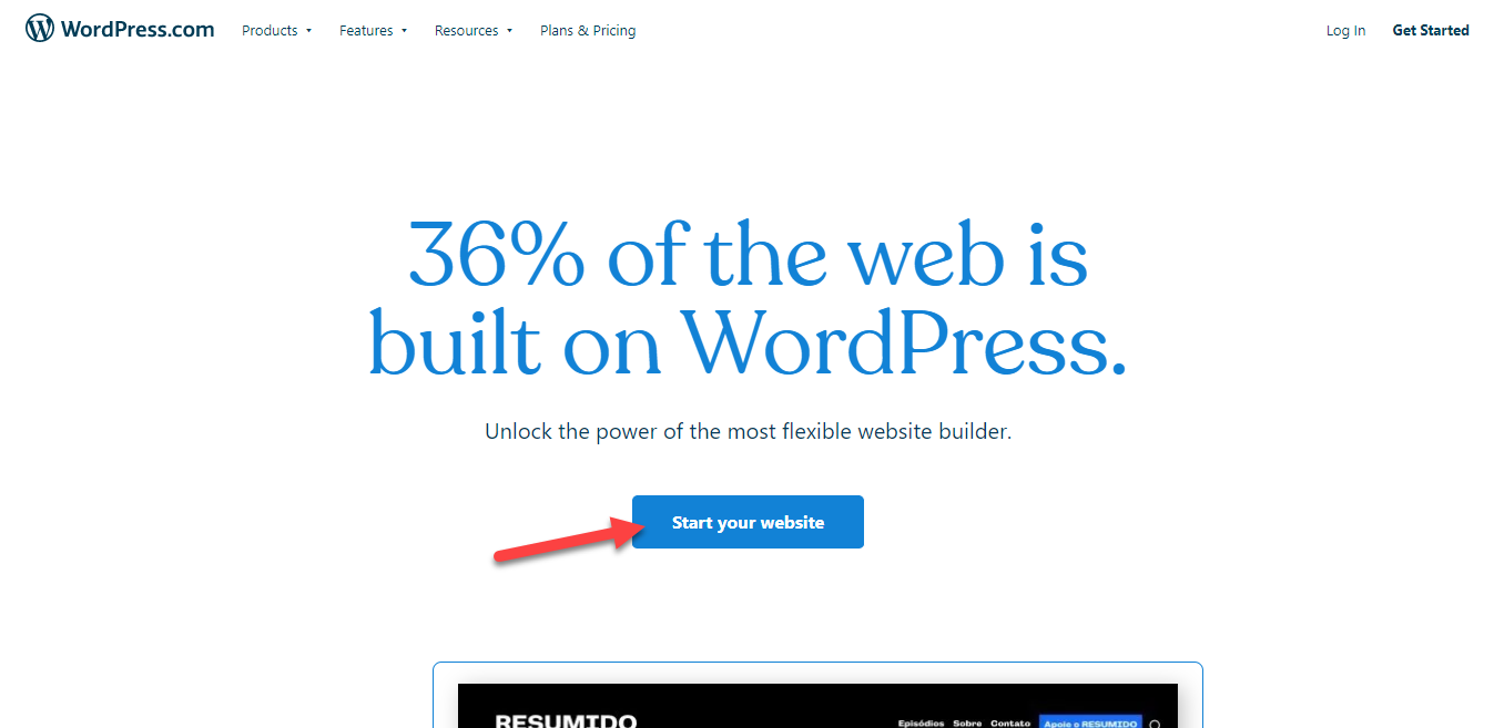 Start a Website with WordPress.com