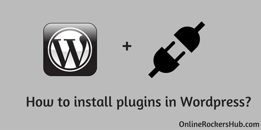 Various methods to install wordpress plugins