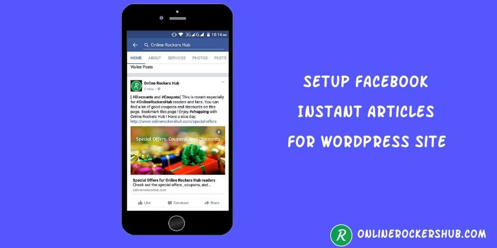 Setup facebook Instant articles to your wordpress website or blog