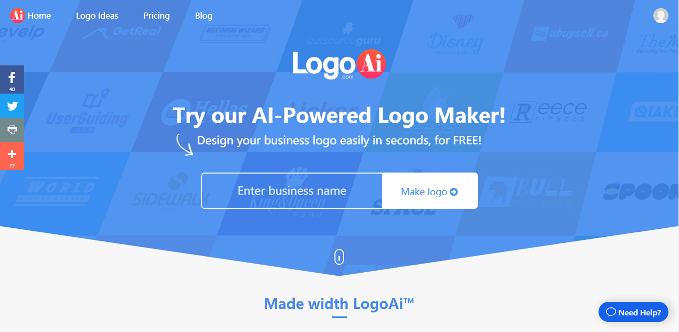 LogoAi Review: The new AI powered Logo Maker to try out