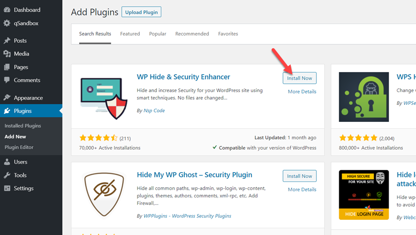 wp hide and security enhancer