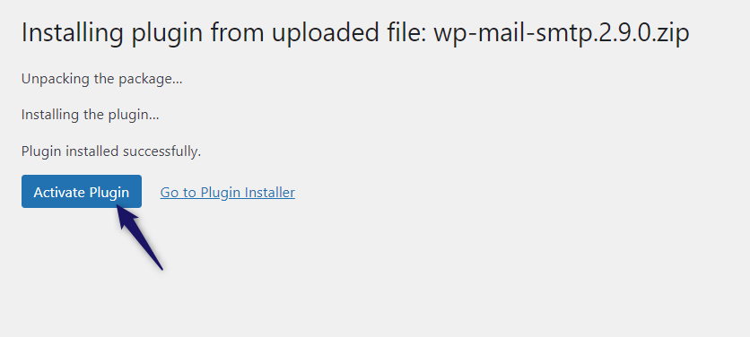 activate wp mail smtp