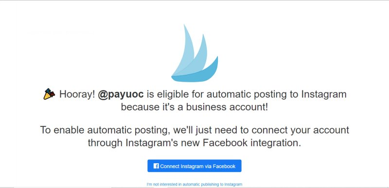Connect Tailwind Instagram account with Facebook for business account
