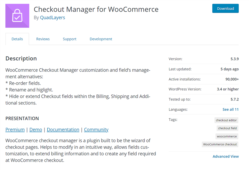 woocommerce checkout manager free