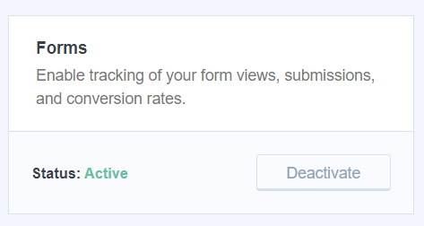 forms add-on activated