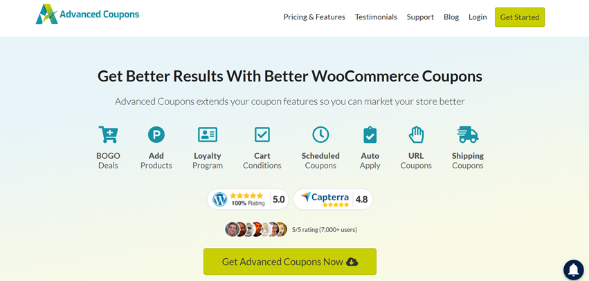 advanced coupons plugin home