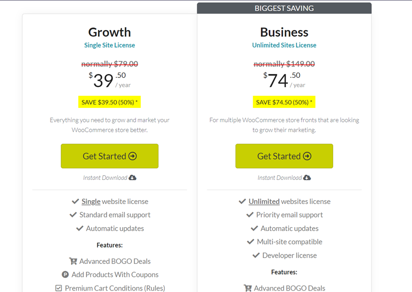 advanced coupons pricing