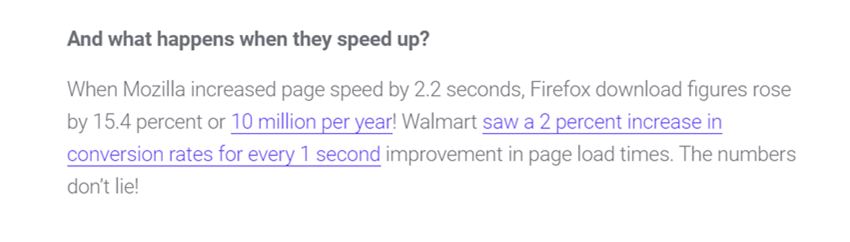 kinsta speed and perf