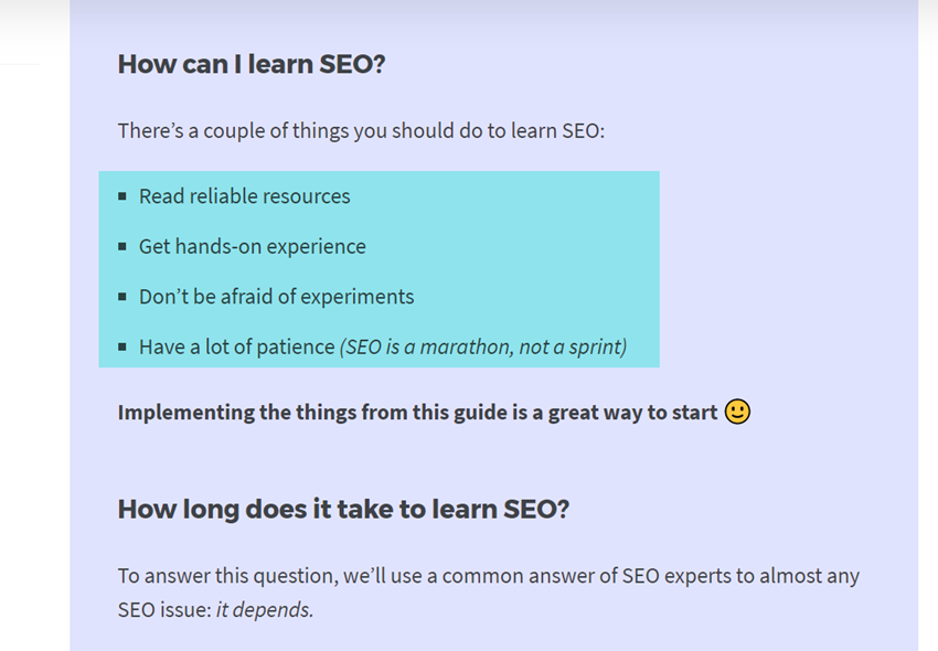 work on your seo