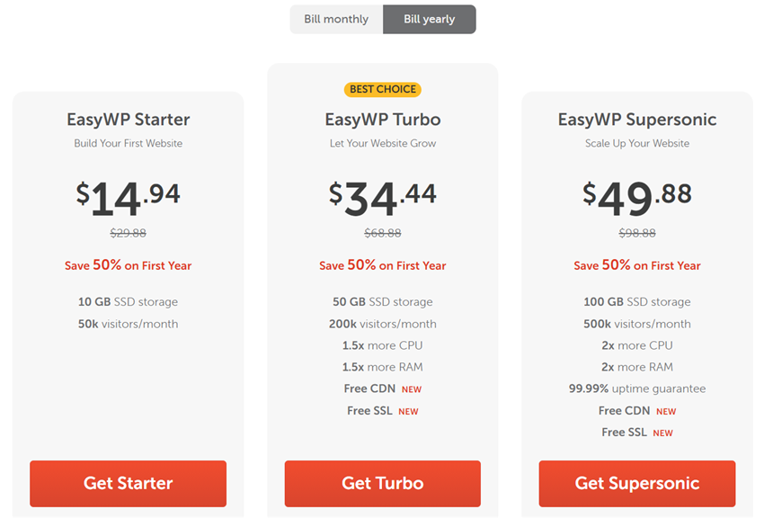 easywp annual billing