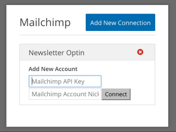 create new mailchimp connection