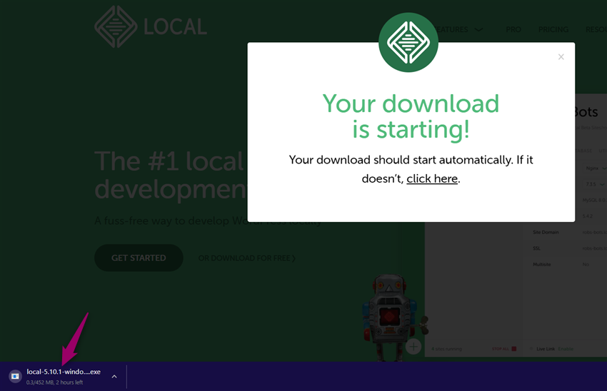 download started
