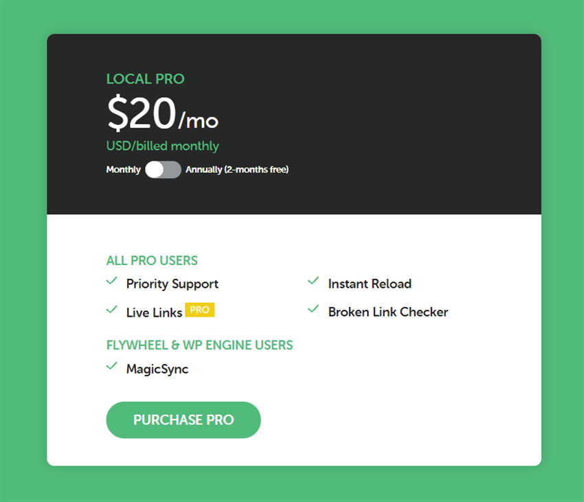 local pro monthly billing