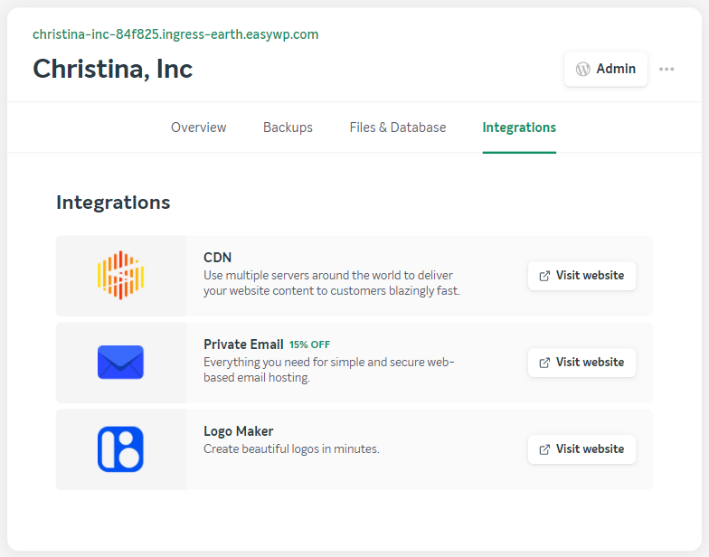 EasyWP Integrations
