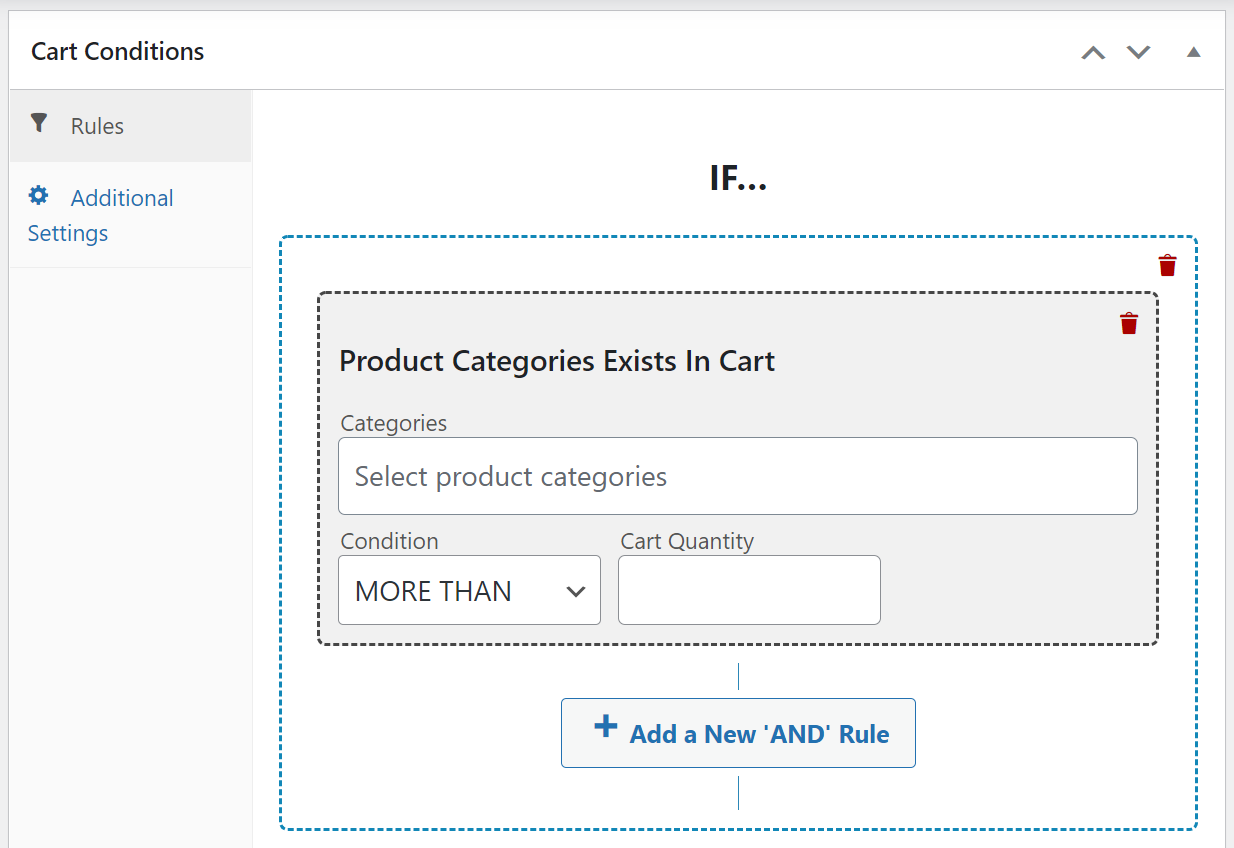 advanced coupons cart condition
