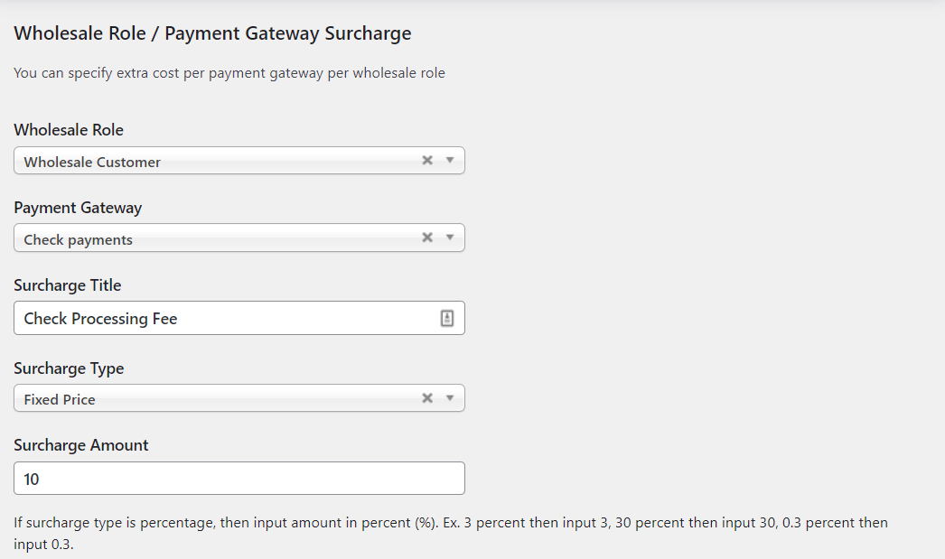 payment gateway surcharge
