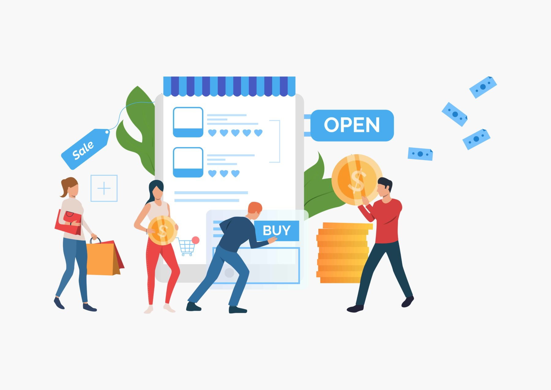 sell physical or digital products
